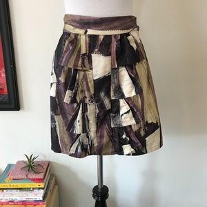 Anthropologie Fei Tiered Ruffle Mini Skirt Size 4